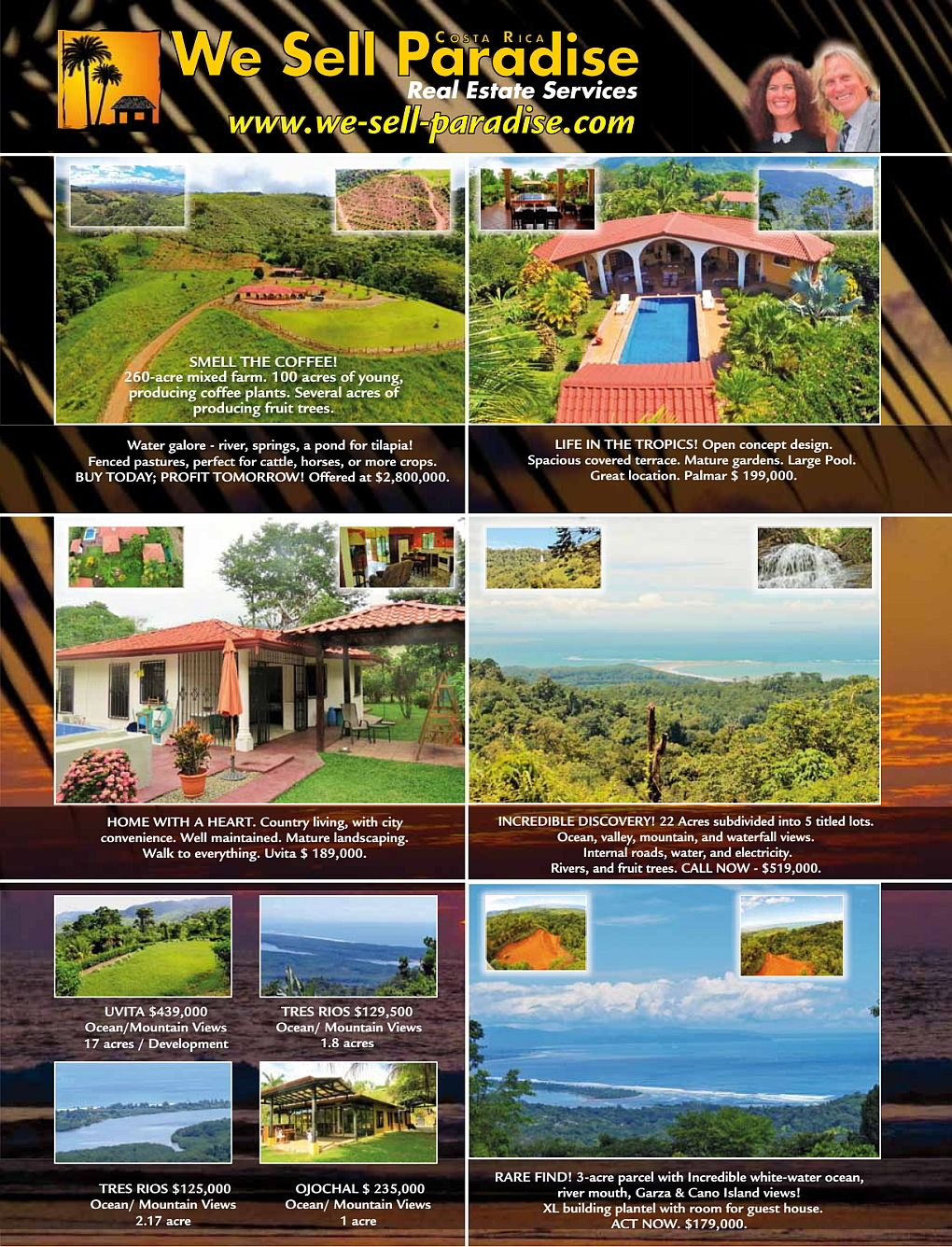 We Sell Paradise, real estate services Costa Rica